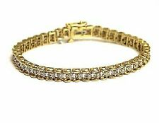 14k Yellow Gold 7 Ct. Diamond Tennis Bracelet