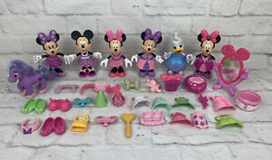 Disney Daisy Duck Minnie Mouse Bow-Tique Dress Up Snap on Clothes Lot of 60 pcs