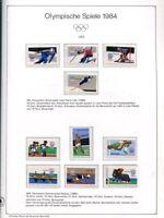 Motivsammlung Olympiade 1984 in 2 KABE Vordruckalben