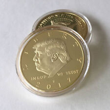 2017 New US DONALD TRUMP Inauguration Gold Plated coin President F00