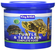 3x KING BRITISH Nourriture Tortue 200g alimentation complèt riche en calcium