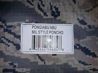 NEW Pongiabu ABU TIGER STRIPE RAIN Poncho Camouflage Outdoor Hunting Hiking Gear