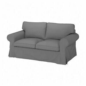 NEW Ikea EKTORP Two [2] seat sofa  COVER SET in Remmarn Light Grey