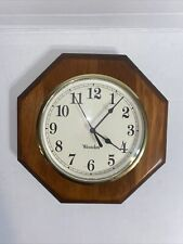 Wodden Octagon Wall Clock - Westclox (10 inches diameter)