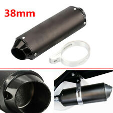 38mm Motorcycle ATV Bikes Exhaust Pipe Muffler Silencer Universal Slip On Killer