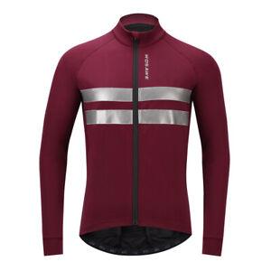 Cycling Jacket Windstopper Winter Thermal Fleece Long Sleeve Road Bicycle Coat