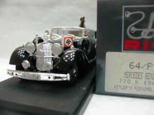WOW EXTREMELY RARE Mercedes W07 770K Hitler's Personal Car 1942 +figure 1:43 Rio