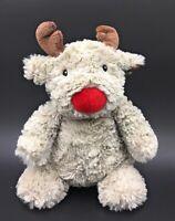 """Next My Best Friend Reindeer Grey Red Nose Baby Soft Toy Comforter Beanie 11"""""""