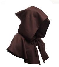Juegos con disfraces-Medieval-Larp-Pagano SCA-Gótico Steampunk Negro Con Capucha Capa 2 Tamaños