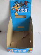 PEZ Display Karton Marvel Super Heroes Batman Spiderman 20x27x17 cm 1984 80er