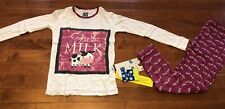 Kickee Pants Girl's Long Sleeve Berry Cow Pajamas New Size 7