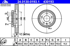 Bremsscheibe (2 Stück) - ATE 24.0130-0193.1