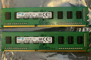 8GB Samsung PC DDR3 Memory Kit (2x4GB), PC3-12800, DDR3-1600 - M378B5173EB0-YK0