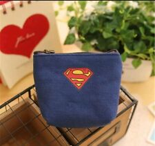 SUPERHERO Zip Coin Purse boys girls New superman design /first class post