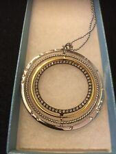 Touchstone Crystal Round and Round Necklace New