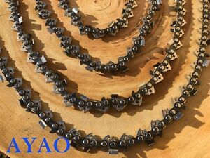 """AYAO Chainsaw Full Chisel Chain 3/8LP 050 45DL for Ozito PCS-305A 12"""" Bar 25.4cc"""