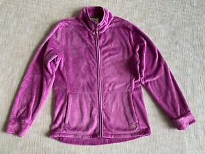 Dakini Fleece Jacket Sz M Sweatshirt Long Sleeve Full Zip Fuzzy Lavender Womens