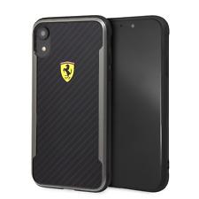 Ferrari IPHONE XR Carcasa Negra Teléfono Celular Con Impreso Carbono Fibra Final