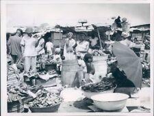 1960 Press Photo Fish Market Monrovia Liberia West Africa