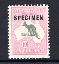 Kangaroo 10/- Roo small multiple watermark SPECIMEN.ACSC 49