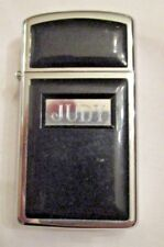 1989 ZIPPO LIGHTER BLACK ENAMEL OVER SILVER ENGRAVED JUDY