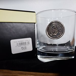 English Pewter Company 11oz Whisky Glass Tumbler with Monogram Initial C - NEW!