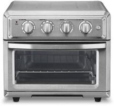 Brushed Stainless Toaster Oven Built-In Air Fryer with Timer / Auto-Shutoff