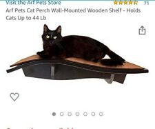 Arf Pets Cat Perch Wall Mounted Wood Set of Two