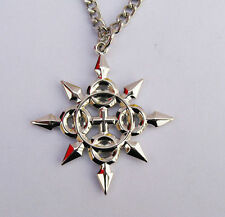 Kingdom Hearts Axel Eternal Flames Symbol Metal Necklace Pendant Amulet Gift Hot