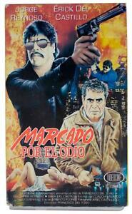 MARCADO POR EL ODIO 1993 VHS VIDEO 80s Jorge Reynoso Mexican Cop Crime Action