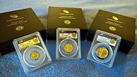 2016-W 100th Centennial Gold COMPLETE 3 Coin Set PCGS SP70 First Day of Issue