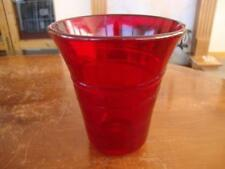 Vase Cranberry Art Glassware Date-Lined Glass