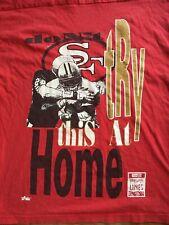 Vtg. 90s Majestic Team Nfl San Francisco 49ers Beyond The Lines 2 Sided L Jersey