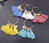 Hot Fashion Bohemian Earrings Long Tassel Fringe Boho Dangle Earrings for Women