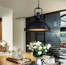 Big Vintage Industrial Metal Ceiling Lamp Matte Black Pendant Light Chandeliers