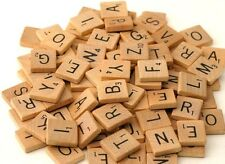 Wooden Scrabble Letters Tiles black letters, Pick and mix from 1-3000