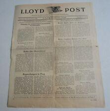 Old Vintage 1938 - EUROPA - German Steamship - Newspaper - LLOYD POST