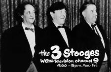 Old Photo.  the Three Stooges - WGN Television Channel 9