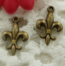 free ship 130 pieces bronze plated cute charms 19x12mm #2316