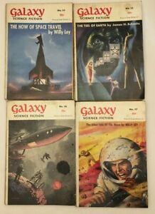 6 x Vintage Galaxy Science Fiction Pulp Magazine No 34 35 36 37 38 39