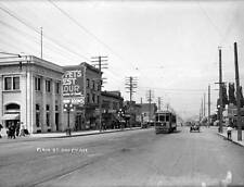 Photo. 1911-3. Vancouver. Main Street & 8th - Streetcar