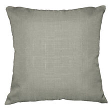 Qh10a Light Grey Thick Cotton Blend Style Cushion Cover/Pillow Case Custom Size