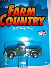 Ertl green 1950 chevy pickup truck 1/64 farm toy