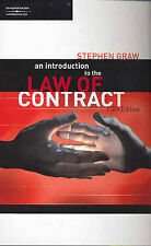 An Introduction to the Law of Contract by Stephen Graw (Paperback, 2005)