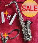 Prof. Black Nickel Silver Tenor Saxophone Bb sax High F  FREE Metal mouthpiece
