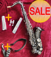 Professional Black Nickel Tenor Saxophone Bb sax + FREE Metal mouthpiece & Strap