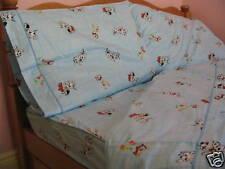 Kids Cotton Dalmatian&Bear Comforter Cover/Duvet Cover Sheet Set Twin Light Blue