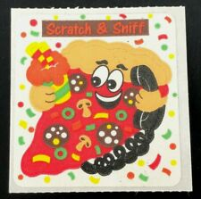"Vintage Sandylion Paper Sticker ""PIZZA"" Matte Scratch-N-Sniff 80s 90s Scented"