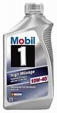 New Mobil 1 103536 10W-40 High Mileage Motor Oil - 1 Quart (Pack of 6)