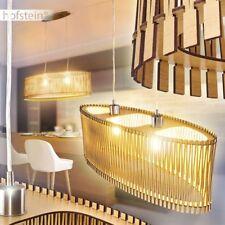 Retro Hänge Lampen Holz ahornfarben Ess Wohn Schlaf Zimmer Pendel Beleuchtung